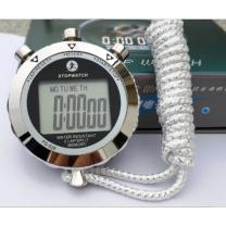 智汇 金属电子秒表计时器  双排10道带温度送口哨+电池