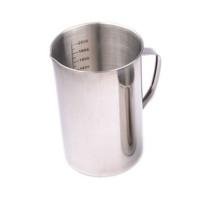 冰禹 BY-3097 加厚不锈钢刻度量杯 医用量杯 烧杯液体量杯 实验室带刻度 2000ML