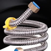 隆仕洁 304不锈钢波纹管水管4分冷热水管高压金属上水软管