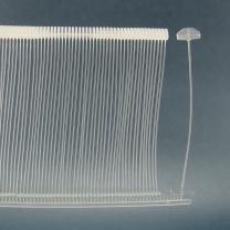 工字型透明环保PP料吊牌枪细胶针塑料子弹排针雨伞胶针挂牌胶针1.2m