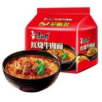 康师傅 大食袋红烧牛肉味方便面 146g*5