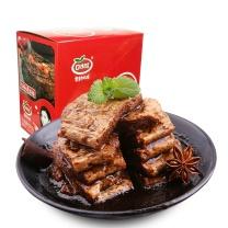 口水娃 蛋白素肉手撕豆干素牛排 22g  20袋/盒/20盒/箱(香辣味/五香味,口味随机)