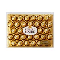 费列罗 榛果威化巧克力32粒钻石装 32粒/盒  4盒/箱