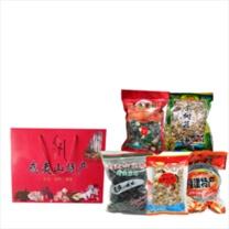 宝山猴 年货大包(山货组合5种)  姬松茸250g/香菇250G/茶树菇250G/岩耳250G/紫菜250G