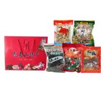宝山猴 年货大包(山货组合5种)  姬松茸250g/香菇250G/茶树菇250G/岩耳250G/红菇100G