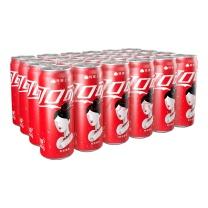 可口可乐 Coca'Cola 碳酸饮料(可乐)摩登罐 330ml*24罐/箱