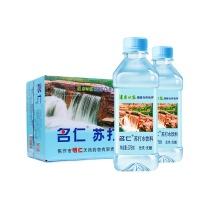 名仁 苏打水饮料 无糖无汽弱碱性水 375ml*24瓶 整箱装