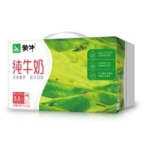蒙牛 mengniu 纯牛奶 250ml/盒 24盒/箱  (外箱:345*110*205mm 毛重:12kg)