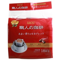 悠诗诗 UCC 滴滤式职人咖啡粉(醇香摩卡) 7g*18条/袋