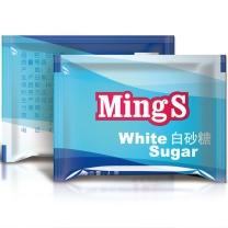 铭氏 白糖包 优级白砂糖 咖啡糖包 调糖咖啡伴侣 7g*100片/袋*24袋/箱