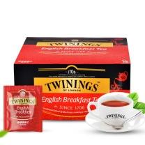 川宁 TWININGS 英国早餐红茶 2g/包  50包/盒 10盒/箱