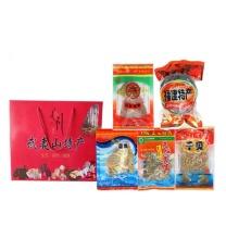 宝山猴 海鲜干货组合大套装 1250g  包含鱿鱼干、紫菜、墨鱼干、干贝、蛏干 (不含厦门市)