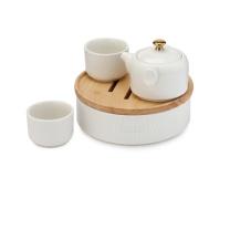多样屋 TAYOHYA 功夫茶具组 TA040301008ZZ 茶壶:110ML;茶杯:50ML; 茶盘:6寸;橡木托:6寸;