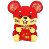 赛尔曼 鼠年吉祥物毛绒玩具送福鼠 25cm