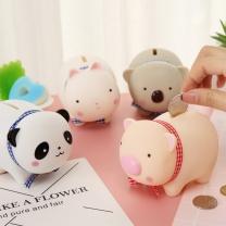 可爱卡通小猪搪胶公仔存钱罐 10.5*8cm  起订量100