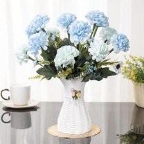 假花摆件客厅康乃馨玫瑰花现代简约商场干花束家居仿真