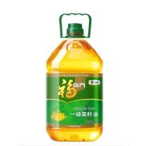 福临门 非转基因压榨一级菜籽油 5L