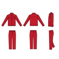 国产 定制普通夏季工作服含LOGO (大红色) (江苏国电投链接,起订量:100)