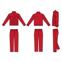 国产 定制普通春秋工作服含LOGO (大红色) (江苏国电投链接,起订量:100)