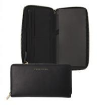 雨果博斯 HUGO BOSS Long zipped 雅致款真皮高档钱包 HLV807A (黑色)