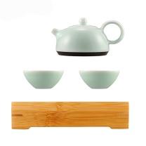 古婺窑火 经典永藏系列 春壶茶盘二杯 一壶二杯一茶盘 茶盘包装  起订量100