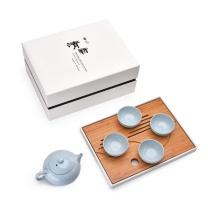 兰台首选 清新·天(汝釉)茶具套装整套茶具干湿泡皆宜 一壶四杯一茶盘