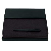 雨果博斯 HUGO BOSS Advance A5黑色织物经理夹 HTM705J (黑色)