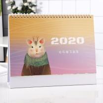 欧唛 oumai 台历记事桌面日历农历办公台历 20*25CM  2020鼠年新款卡通可爱diy日历计划本