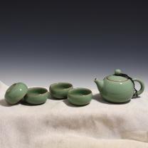 初青 哥窑西施茶具 gxt2005 壶: 8.5×13.5cm 杯: 3.1×6.5cm (哥窑梅子青)