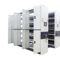 臻远 智能密集架移动式档案柜文件资料架钢制轨道智能密集架一列5组 MJJZ-5 H2360*W4500*D560 (白色)
