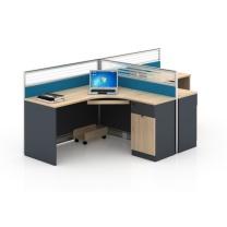 雅丹慧业 L型两人屏风位 XS19-P2809 2800*1400*1100H  4件/个