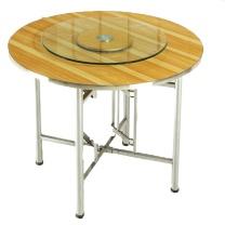 颂泰 圆形餐桌加转盘 1.5m