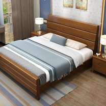 三棵树 床 1500*2000mm (胡桃色、海棠色、榉木色) 双人床