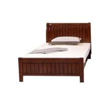 万保 实木床 1200*2000mm  配套5公分床垫
