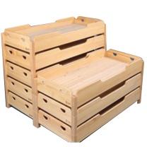 颂泰 叠叠床  幼儿园宝宝实木单人床