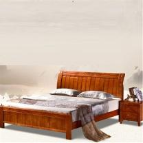 颂泰 实木床 ST-8301 1.2m  现代简约 含一个床头柜