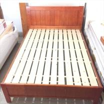 颂泰 实木床 ST-440 200mm*1900mm框架结构 (海棠色) 含5cm棕垫