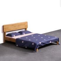 红心家居 1.5米实木床(不含床头柜) HX664 W2000*D1500*H900