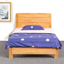 红心家居 实木床1.2米(含床垫) HX681 W2000*D1200*H960 (原木色)