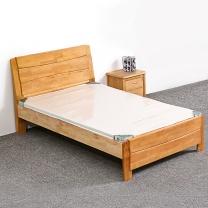 红心家居 1.2米实木床(含床垫、床头柜) HX683 W2000*D1200*H960 (原木色)