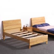 红心家居 实木床1.5米(含床头柜) HX654 W2000*D1500*H900