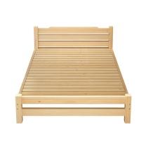 洛克菲勒 实木松木床1.2米 离地30cm高 W1200*D1900 (原木色) 不带抽屉