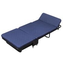 欧润哲 三折折叠床 76cm 180.8*76*27cm (蓝色) 海绵加宽版