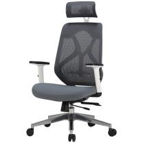 黑白调 人体工学电脑椅 网布座椅办公椅可躺 老板转椅 (黑色) DZ