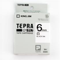 锦宫 KING JIM 标签色带 SS6K 6mm (白底/黑字) 5卷起订