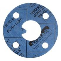 TEMAC/太美 无石棉垫片TC-30,中国化工标准 DN65,PN16,T=3mm,TC-30,HG/T20606-2006 蓝色 RF