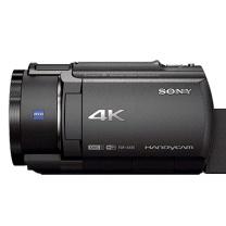 索尼 SONY 高清数码摄像机 FDR-AX45 4K (黑色) 自动对焦 20倍光学变焦 内置64G内存 加配闪迪128G SD卡(95M/S)+摄像包 赠一年保修 黑色