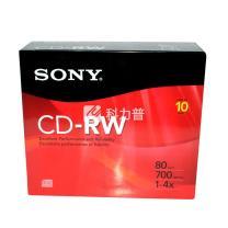 索尼 SONY 光盘  单片装 CD-RW 1X-4X 700MB