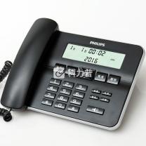 飞利浦 PHILIPS 电话机 CORD218 (黑色)
