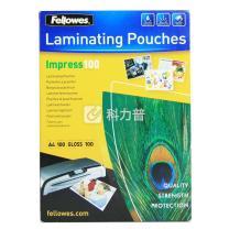 范罗士 Fellowes 塑封膜 Laminating film 53511 A4 100mic(10丝)  100张/包